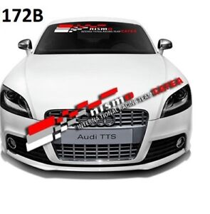 Nismo Racing Car Front Windshield Window Clear Vinyl Banner Decal Sticker 172b