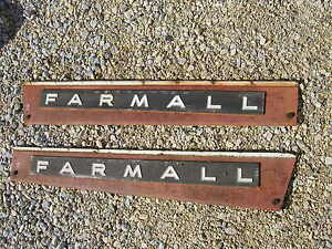 Farmall 504 Rowcrop Tractor White Ih Engine Side Panels With Emblems