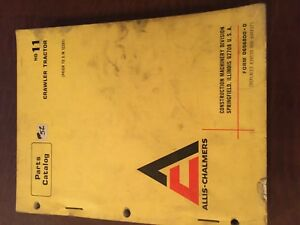 Allis Chalmers Allis chalmers Hd11 11 Crawler Parts Catalog Manual Bulldozer