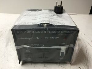 Powerbright Step Up Down Voltage Transformer Vc 1000w New
