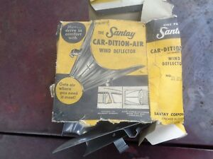 Set Of Vintage Nos Santay Stainless Wind Deflectors Auto Accessory