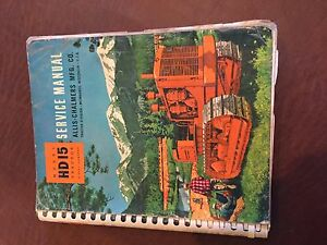 Allis Chalmers Allis chalmers Hd Crawler Service Manual Hd 15 Bulldozer