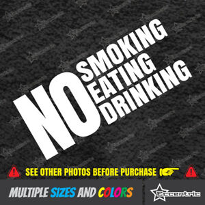 No Smoking Eating Drinking Sticker Business Door Decal Store Office Window Sign