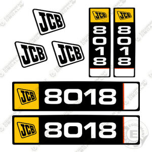 Jcb 8018 Mini Excavator Decal Kit Equipment Decals