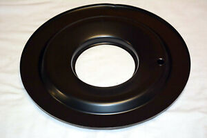 14 Black Flat Air Cleaner Base 5 1 8 Neck Opening 4 Barrel Chevy Ford Mopar