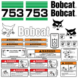 Bobcat 753 V2 Skid Steer Set Vinyl Decal Sticker Bob Cat Made In Usa 25 Pc Set