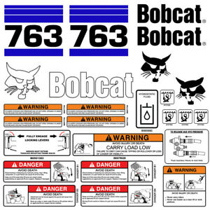 Bobcat 763 V2 Skid Steer Set Vinyl Decal Sticker Bob Cat Made In Usa 25 Pc Set