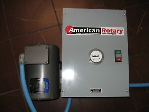 American Rotary 3 Phase Rotary Converter With Hour Meter Used Only 7 Hours