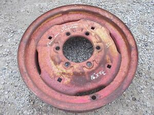 Oliver 550 Tractor Front Press Steel Jd 16 X 4 1 2 6 Bolt Rim Ih 560 460 Jd