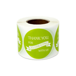 Thank You For Celebrating Stickers Party Wedding Appreciation Labels 1 5 10pk