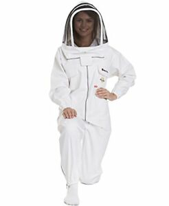 Natural Apiary Max Protect Beekeeping Suit White Clear View Fencing Veil