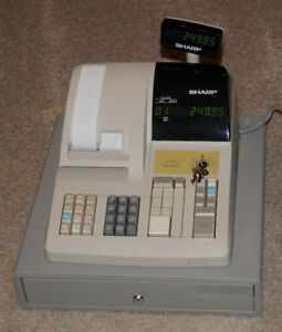 Sharp Electronic Cash Register Er a310 With Keys And Operators Manual