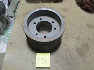 Used 7 Groove V belt Pulley 9 Sheave 5 5 Wide 3 3 4 Bore Industrial