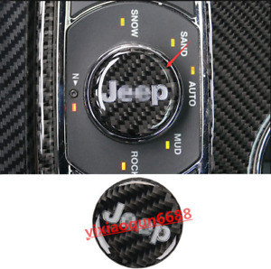 Fit For Jeep Grand Cherokee 2014 18 Real Carbon Fiber Inner Multimedia Knob Trim