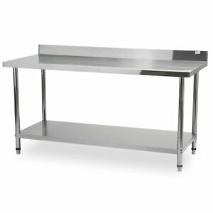 72 x30 Work Prep Table Stainless Steel With Backsplash Kitchen Restaurant Fg