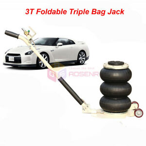 3 Ton Lifts Triple Stage Bag Air Go Jacks Frame Alignment Car Truck Jack Stands