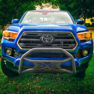 For 05 15 Toyota Tacoma Front Push Bumper Grille Bull Bar Exclusive Style