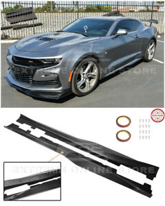 For 16 up Camaro Rs Ss Zl1 Style Carbon Fiber Side Skirts Rocker Panels Pair