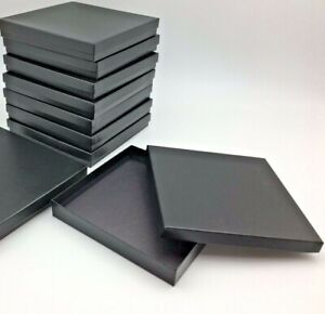 Jewelry Gift Boxes Black Textured Lot Of 145 Just In Time For Christmas