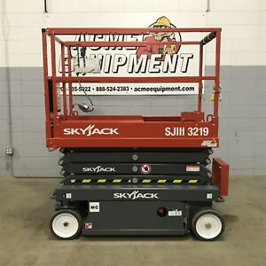 Brand New 2018 Skyjack Sjiii3219 19 Ft Electric Scissor Lift