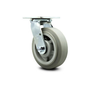 Scc 6 X 2 Thermoplastic Rubber Wheel Swivel Caster 500lbs caster
