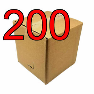 200 8 In 8x8x8 Corrugated Cardboard Shipping Boxes For Moving Storage Mailing
