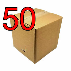 50 8 inch 8x8x8 Corrugated Cardboard Shipping Boxes For Moving Storage Mailing