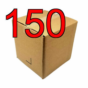 150 8 In 8x8x8 Corrugated Cardboard Shipping Boxes For Moving Storage Mailing