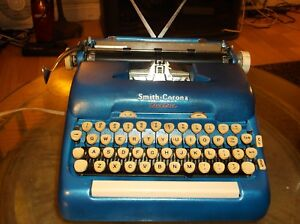 Smith Corona1960s Script Typestyle Vintage Electric Typewriter W Carrying Case
