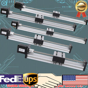Cnc Linear Actuator Stage Lead Screw Slide Rail Guide 42 Stepper Motor New