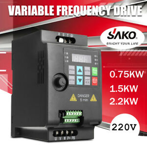 Sako 0 75kw 2 2kw 220v 380v Vfs Variable Frequency Drive Inverter Motor 1ph 3ph