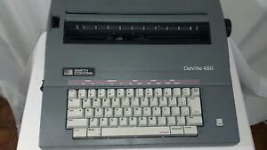 Smith Corona Deville 450 Electric Typewriter W Case Works Needs New Ink Ribbon