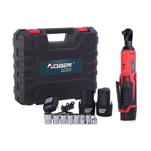 Cordless Electric Ratchet Wrench Set Aoben 3 8 12v Power Tool Kit With 2 Packs