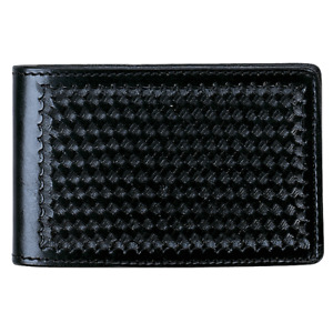 Aker Leather 583 Notebook Cover Basket Weave Black 4 X 7 A583 bw