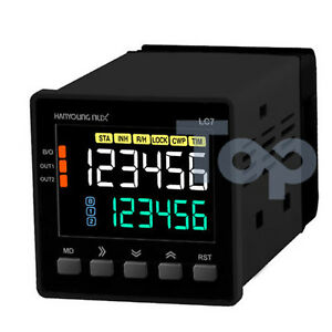 Hanyoung Nux Lcd Counter Timer Lc7 p61na 72x72mm 6 Digits 1 stage Output