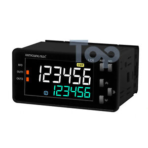 Hanyoung Nux Lcd Counter Timer Lc6 p62na 72x36mm 6 Digits 2 stage Output