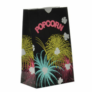 Small 46 Oz Stand up Paper Popcorn Bags 4 1 4 l X 2 1 2 d X 8 1 4 h