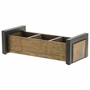 Hubert Condiment Holder Reclaimed Wood 3 Compartment 13 1 2 l X 6 1 8 w X 4 h