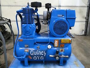 Quincy Gas Powered Service Air Compressor 13 Gallon 10hp Kohler Electric Start