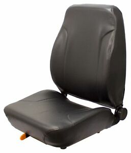 Black Vinyl Seat Assembly For Construction Equipment 11 X 11 Mounting Pattern