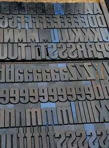 Letterpress Alphabet 196pcs 4 25 Wood Printing Blocks Letterpress Wooden Type