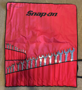 New Snap on Oex724kb 24 Pc 12 Point Sae Flank Drive Combo Wrench Set 1 4 1 5 8