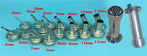 For Quick 861dw 45 Bent Curved 3mm 4mm 5mm 7mm 8mm 10mm 12mm Hot Air Gun Nozzle