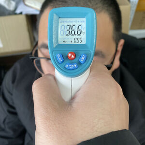 550pro Digital Laser Infrared Thermometer Humidity Temperature Alarm Lcd Screen