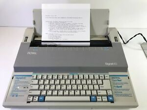 Royal Signet 40 Electric Typewriter