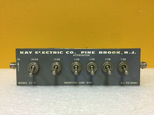 Kay Electric 22 0 41 Db 6 Db Steps 0 Db Loss Bnc f Step Attenuator Tested
