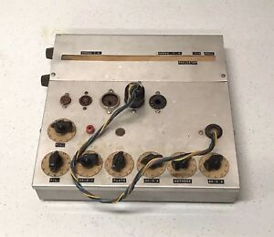 Homemade Vacuum Tube Tester Hickok Ca 4 Ca 5 Adapter Chrome Service Vintage