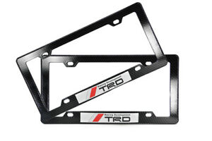 X2 Trd Racing Sticker Carbon Abs Plastic Front And Rear License Plate Frame