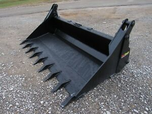 Bobcat Skid Steer Attachment 80 4 in 1 Multi Purpose Tooth Bucket Ship 199