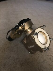 Akron Heavy Duty Swing Out Ball Valve 4 Electronic Actuator Complete Brass
